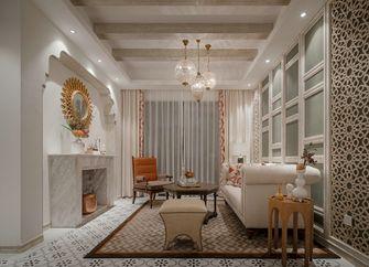 80平米三室三厅英伦风格客厅图