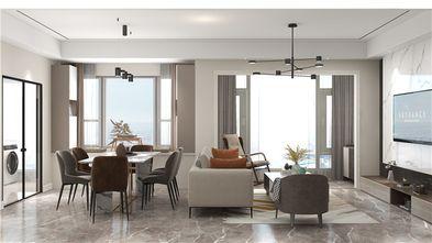 90平米三室两厅现代简约风格餐厅图