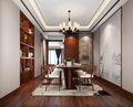 130平米四室一厅中式风格餐厅图片