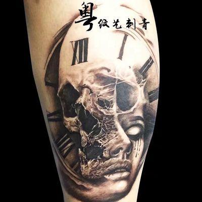 欧美骷髅纹身图