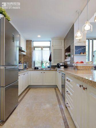 100平米三室两厅美式风格厨房橱柜装修效果图
