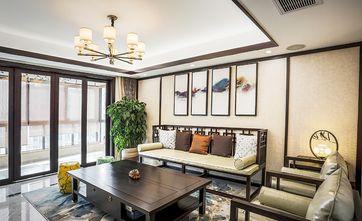 140平米四室两厅中式风格客厅背景墙图片