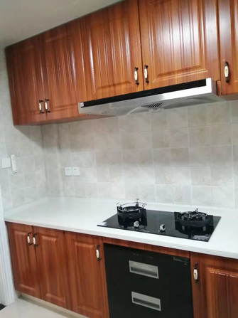 140平米复式美式风格厨房设计图