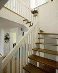 富裕型140平米三室两厅田园风格楼梯设计图