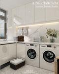 130平米三室两厅美式风格阳光房装修效果图