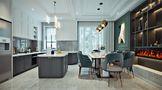 130平米欧式风格餐厅装修效果图
