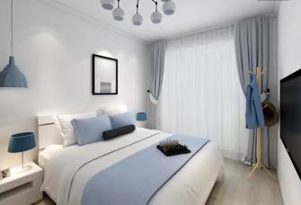 80平米一居室北欧风格卧室装修效果图