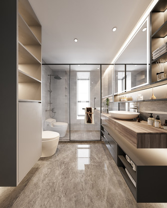 110平米三室两厅日式风格卫生间装修图片大全