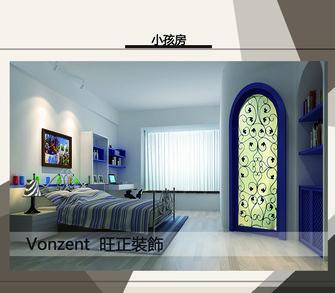 经济型90平米三室五厅欧式风格卧室图
