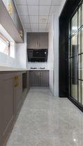 120平米三室三厅混搭风格厨房欣赏图