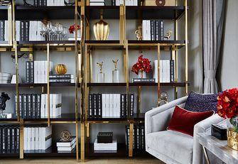120平米三室两厅欧式风格书房设计图