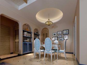 130平米三室两厅田园风格餐厅图片大全