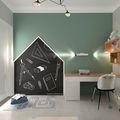 90平米三宜家风格儿童房设计图