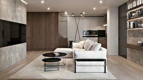 110平米三室兩廳現代簡約風格客廳圖片