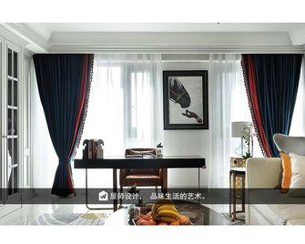 140平米别墅英伦风格书房装修图片大全