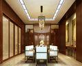 140平米复式中式风格餐厅背景墙装修图片大全