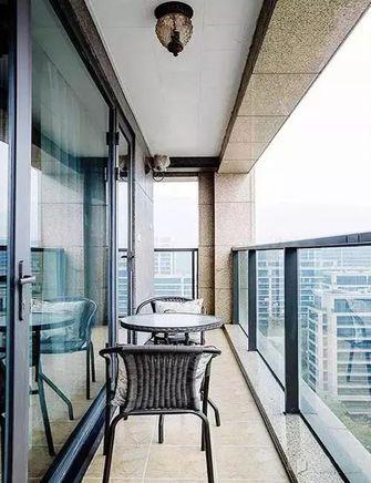 100平米田园风格阳台图