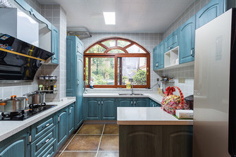 140平米三室三厅地中海风格厨房装修效果图
