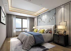 140平米三中式風格臥室欣賞圖