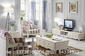富裕型110平米四室一廳歐式風格客廳效果圖