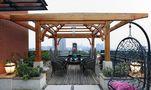 110平米别墅东南亚风格阳光房欣赏图
