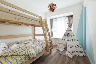 80平米三室两厅北欧风格儿童房设计图