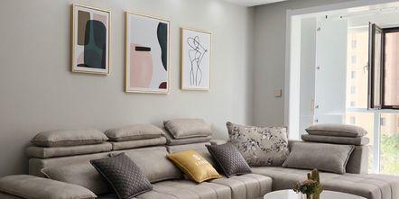 90平米三室一厅宜家风格客厅装修案例