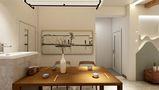 70平米公寓中式风格餐厅装修案例