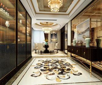 130平米三室三厅新古典风格餐厅设计图