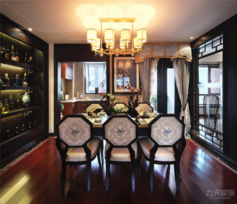 140平米四室四厅混搭风格餐厅装修效果图