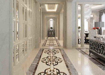 20万以上140平米别墅英伦风格走廊装修案例