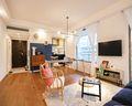 70平米公寓混搭风格客厅装修效果图
