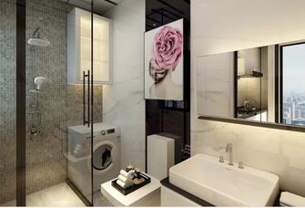 60平米一居室现代简约风格卫生间设计图