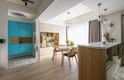 60平米一室两厅北欧风格餐厅图