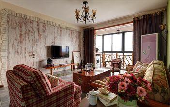 80平米三室两厅地中海风格客厅效果图