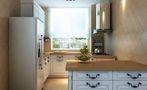 50平米一居室现代简约风格厨房装修案例