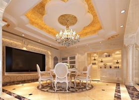 70平米三室两厅欧式风格餐厅效果图
