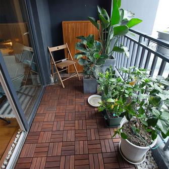 60平米混搭风格阳台装修案例
