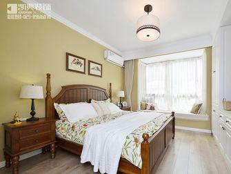 100平米三室两厅美式风格卧室飘窗装修案例