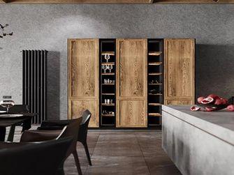 140平米三室一厅新古典风格餐厅图