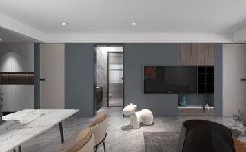 90平米三室三厅现代简约风格客厅装修图片大全