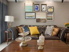 經濟型60平米三室兩廳美式風格客廳裝修圖片大全