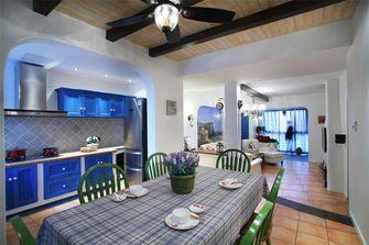 80平米地中海风格餐厅图片