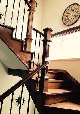 140平米别墅美式风格楼梯间装修案例