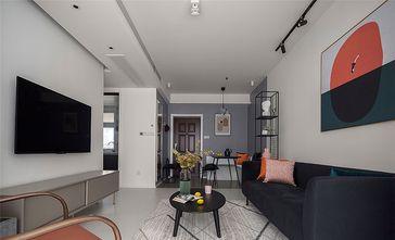 80平米三室一厅混搭风格客厅装修图片大全