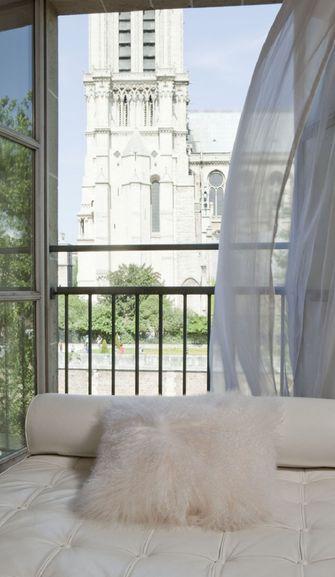 110平米三室两厅北欧风格阳台欣赏图