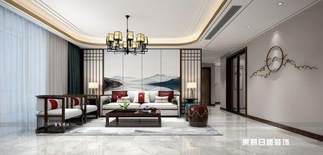 140平米三室两厅中式风格楼梯间装修图片大全