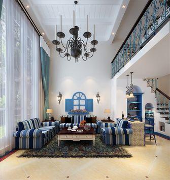 140平米复式地中海风格客厅图片大全