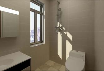 110平米公寓中式风格卫生间装修效果图