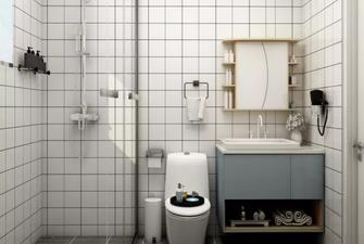 80平米一居室北欧风格卫生间欣赏图